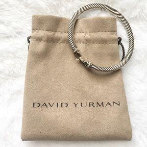 David Yurman Cable Buckle Bracelet w/Diamonds, 5mm
